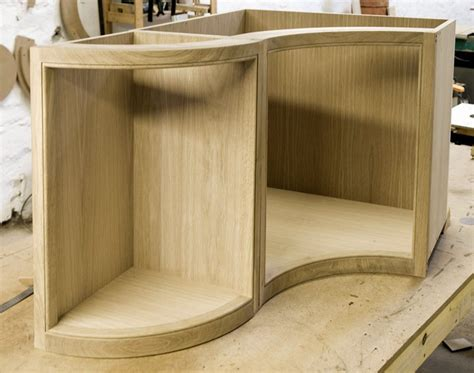 Curved Cupboard Doors - finished cabinet cumbrianarrowboats