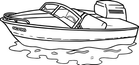 Motor Boat Outline by List Of Synonyms And Antonyms Of The Word Motor Boat Drawing