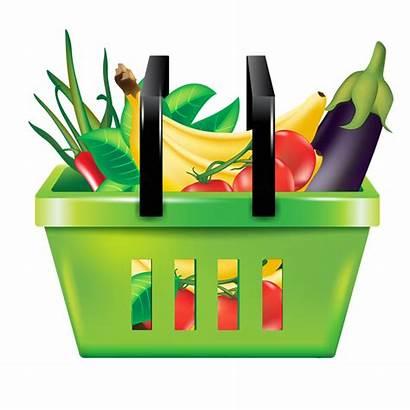 Clipart Basket Shopping Fruit Vegetables Vegetable Cuisine