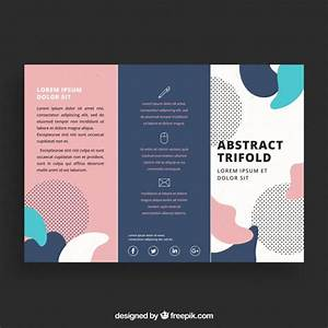 creative colorful trifold business brochure template With free vector brochure templates