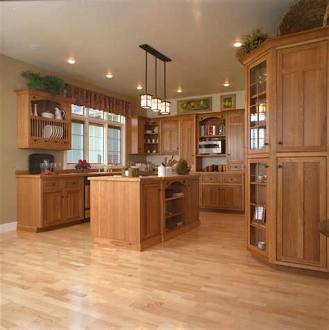 craftsman style kitchen hickory wood cabinets craftsman