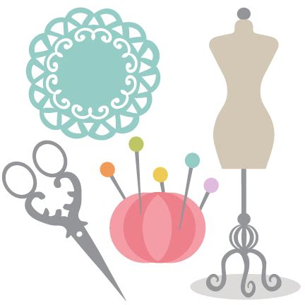 Sewing Clipart Sewing Set Svg Cutting Files For Scrapbooking Clip