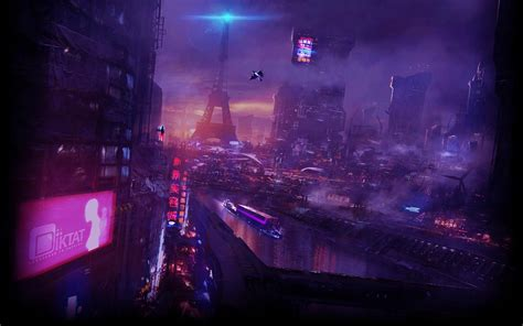 cyberpunk neo paris  wallpaper engine sci fi