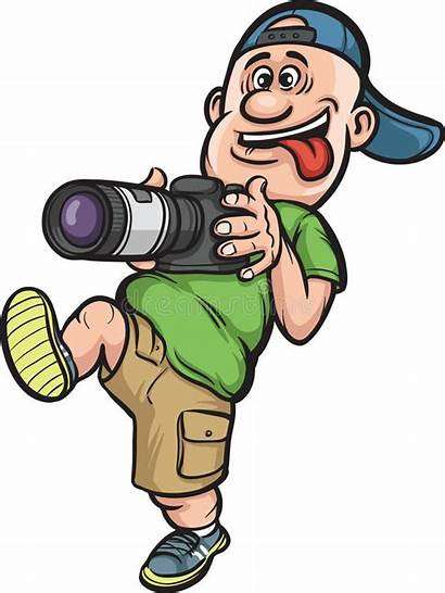 Cartoon Funny Photographer Fotograf Fotografo Zeichentrickfilm Walking