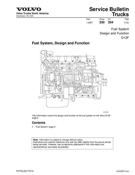 Volvo 9700 Wiring Diagram by Fuel D13