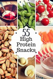 55 High Protein Snacks • PDF Infographic • Healthy.Happy.Smart. Protein Diet