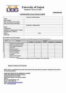 UOG Internship evaluation form 2012