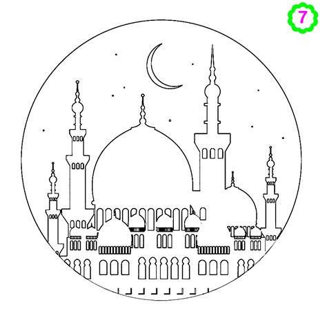 Moskee Kleurplaat by Free Colouring Activities Colouring Mosque Muslimkids