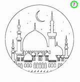 Mosque Colouring Pages Printable Adabi Coloring Ramadan Islamic Crafts Drawing Activities Islam Boyama Children London Kitapları Shahada Karim sketch template