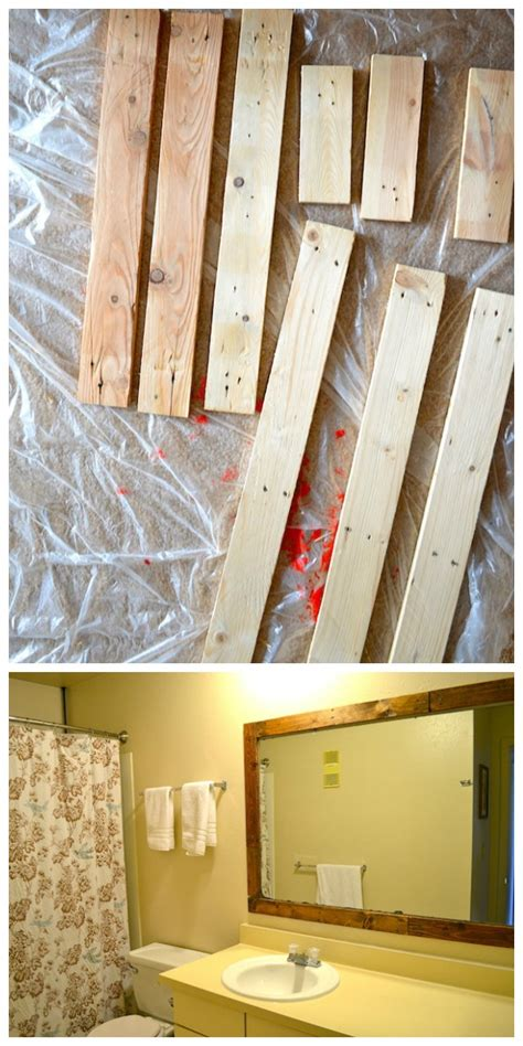 rachel schultz framing  bathroom mirror  pallets