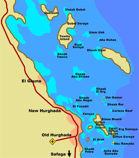 hurghada travel tips red sea    map