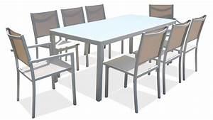 Table De Jardin 8 Places : salon de jardin aluminium table de jardin 8 places ~ Teatrodelosmanantiales.com Idées de Décoration
