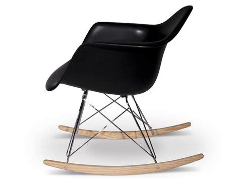 chaise rar eames pas cher rar rocking chair charles et eames noir mobilier