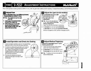 Toro Adjustment Instructions 1 9 Gpm 4 34 L Mn Factory
