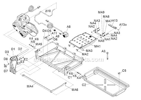 Mk 100 Tile Saw Accessories by Mk Mk 100 Parts List And Diagram
