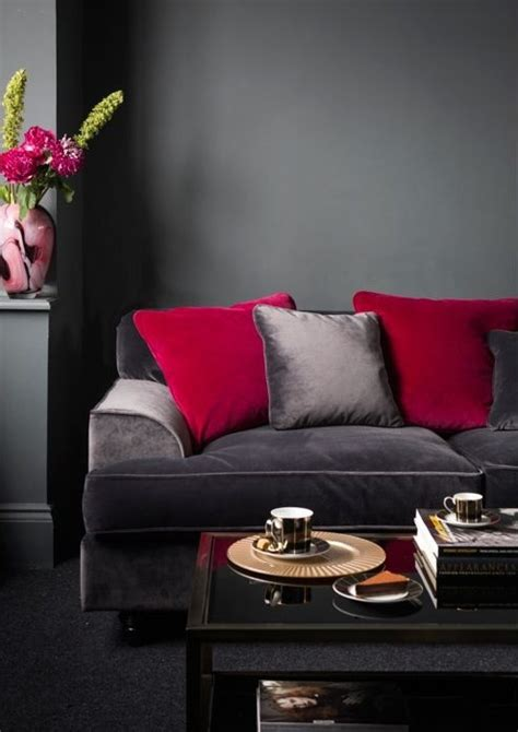 red and grey sofa 39 cool red and grey home décor ideas digsdigs