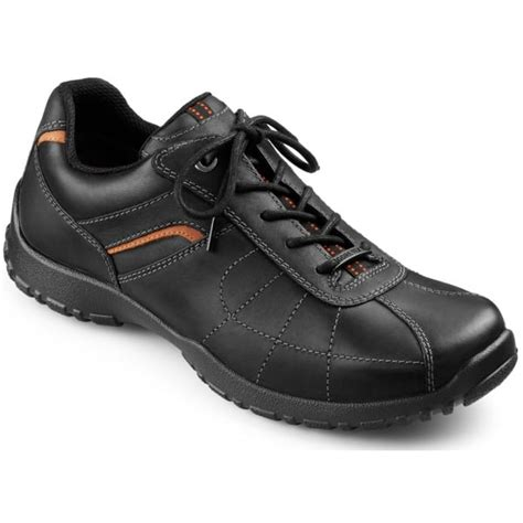 Hotter Mens Thor Gtx Black Leather Waterproof Lace Shoes