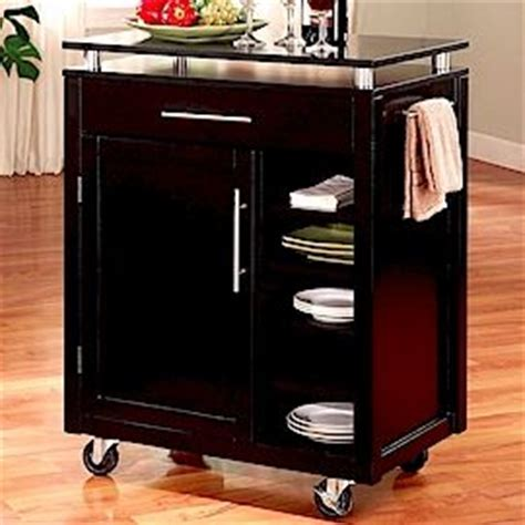 microwave stands with storage   Modern Style Kitchen Cart
