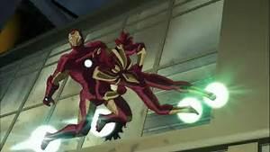 Image - Livins Laser attacking Iron Man.png | Ultimate ...