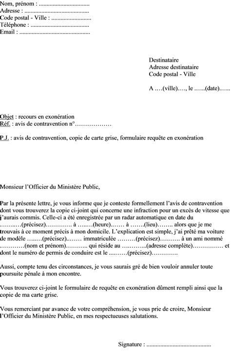 Lettre Contestation Pv Exces De Vitesse Lettre De Contestation D 39