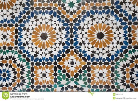Moroccan Vintage Tile Background Stock Illustration