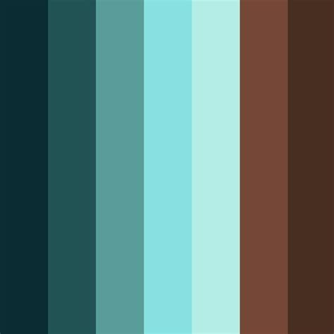 blue and brown colour palette living room brown blue
