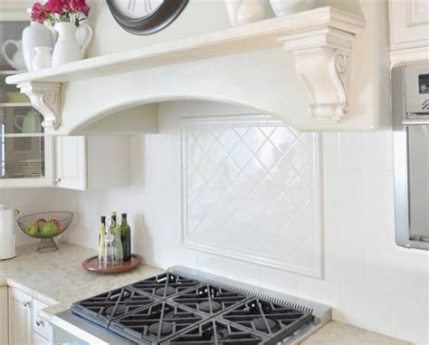 Square Tile Backsplash : Diy Black And White Vinyl Backsplash