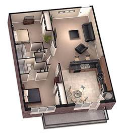 3d Plan Of House Photo by Tiny House Floor Plans Brookside 3d Floor Plan 1 By