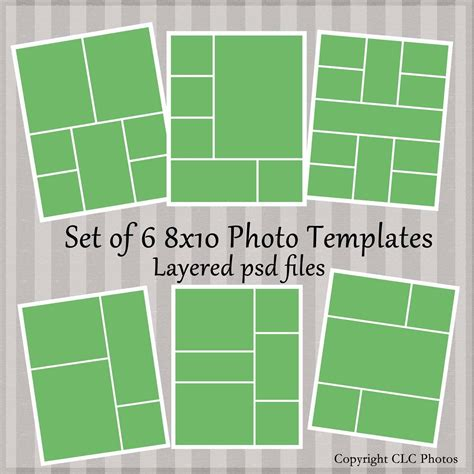 template ideas photo collage photoshop  templates