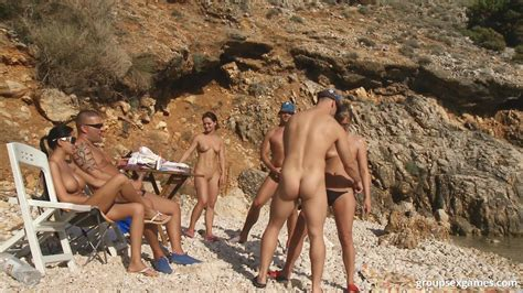A Day At A Nude Beach Turns Into A Day Of Group Sex Fucking Under The Hot Sun