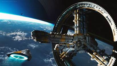 Sci Fi Station Space Starship Deviantart Artstation