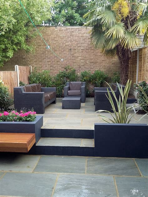 Outdoor Patio Garden by Modern Garden Design Sandstone Paving Patio