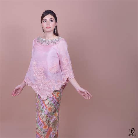 pastel blouse top atasan wanita kebaya indonesia modern high low hi low lace brokat
