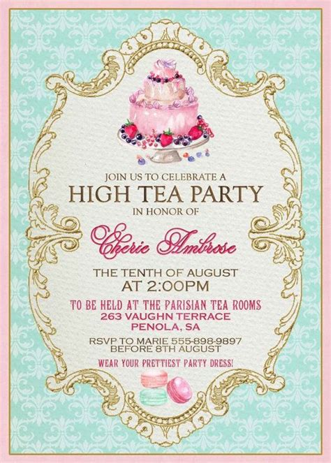 tea invitation template high tea invitation template invitation templates j9tztmxz restaurants high tea