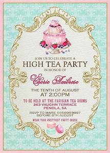 high tea invitation template invitation templates j9tztmxz With tea party menu template