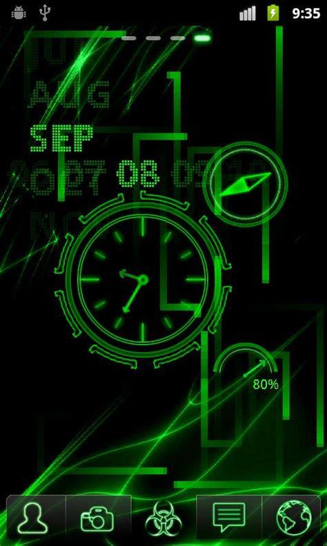 neon clock  wallpaper    android market