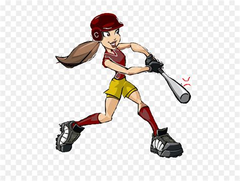 Fastpitch Softball Baseball Cartoon Clip Art