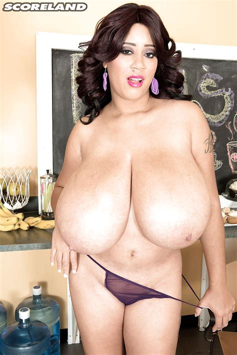 Brunette Latina Plumper roxi red Unveiling Massive Hooters