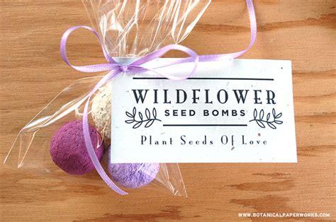 create diy wedding favors with our new bulk seed bombs bonus free printable