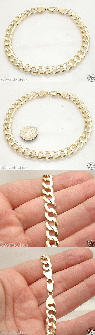 fine anklets   bold solid curb cuban chain ankle