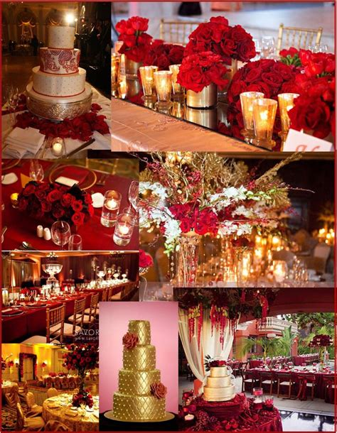 Red and Gold Wedding and event ideas wedding reception