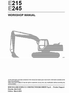 New Holland E215  E245 Excavator Workshop Manual Pdf