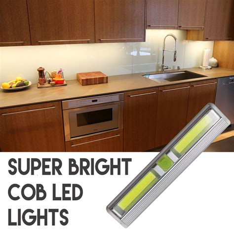 battery lights for kitchen cabinets wireless bright cob led tap light for 9079