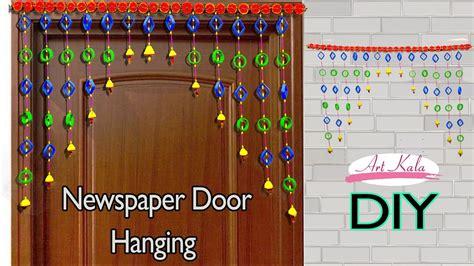 Newspaper wall hanging  Bandhanwar  Door hanging Toran