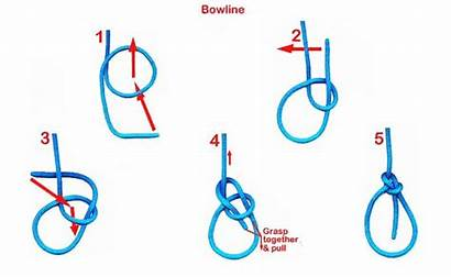 Bowline Knot Tie Knots King Rope Step