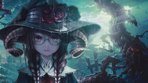 Anime Girl Witch Wallpaper Witch Anime Anime Girls Wallpapers Hd Desktop And