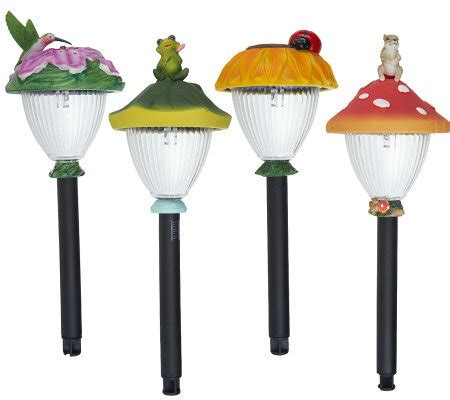 westinghouse 4 decorative garden solar light set