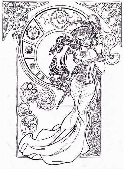 Coloring Wizard Nouveau Deviantart Lines Adult Fairy