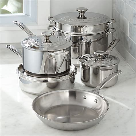 le creuset signature stainless steel  piece cookware