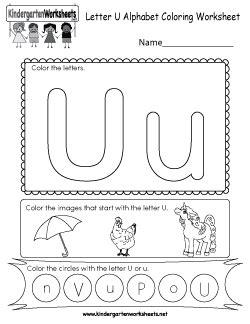 kindergarten alphabet worksheets learning  basics
